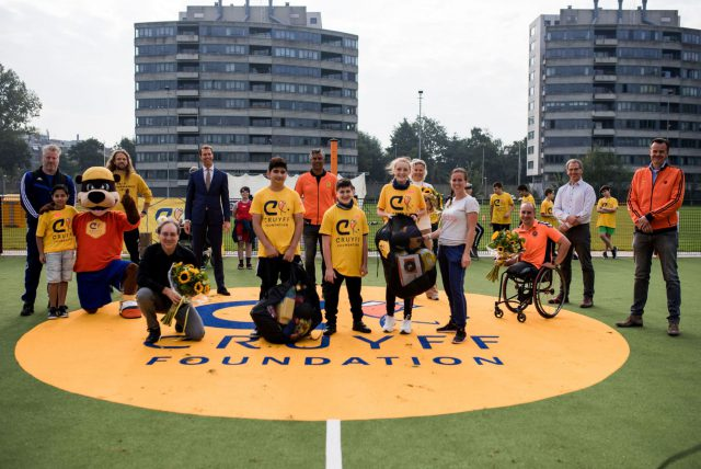 Official opening of the Special Cruyff Court in Escamp, The Hague